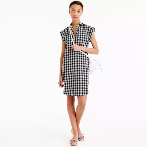 320c86d82d8 J. Crew Dresses   Skirts - Classic short sleeve shirt dress in gingham
